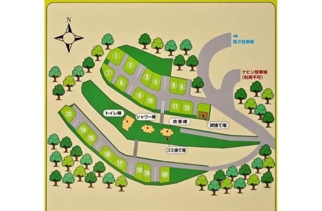 奥日立きららの里 オートキャンプ場 マップ