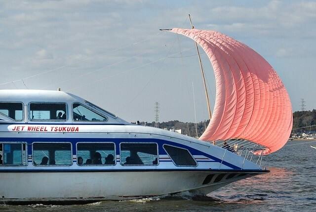 霞ヶ浦総合公園 霞ヶ浦の帆引き船 遊覧船
