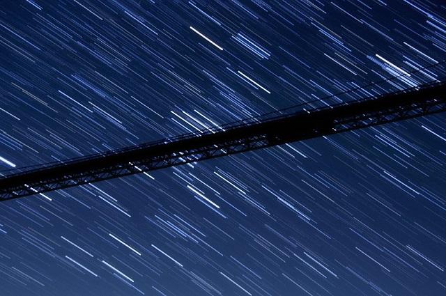 竜神大吊橋 星空 夜景