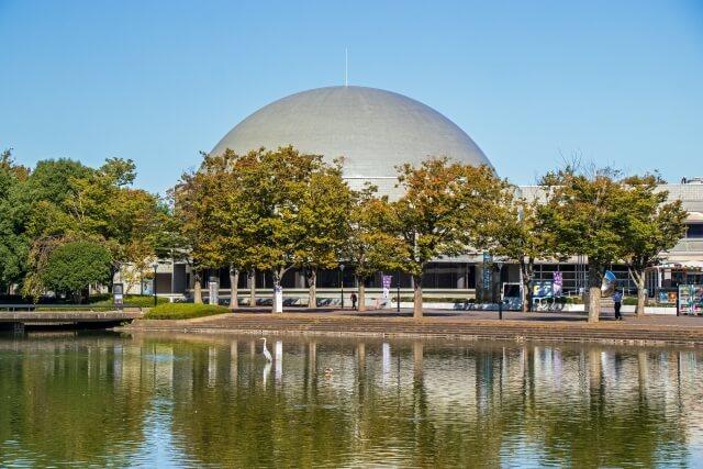 つくばエキスポセンター プラネタリウム ドーム 外観