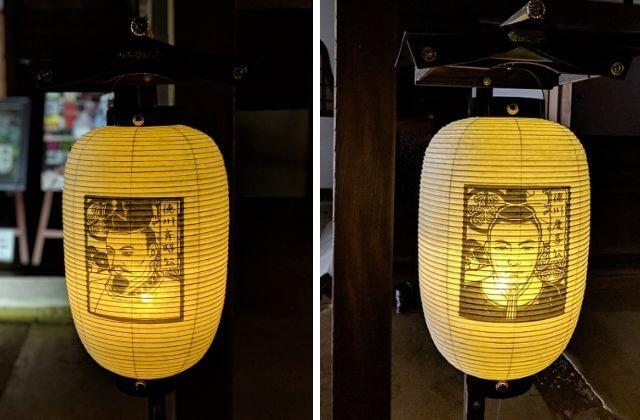 梅まつり ライトアップ 弘道館 提灯