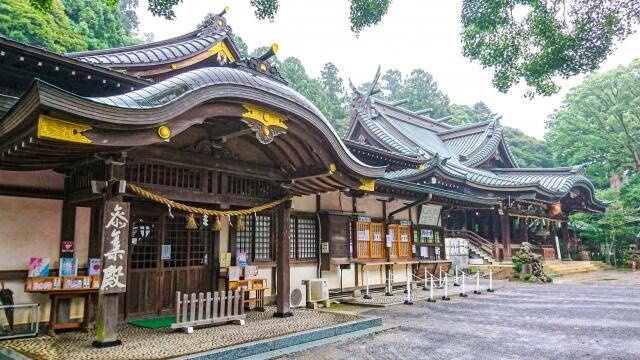 筑波山神社 拝殿横の社務所 御朱印 お守り