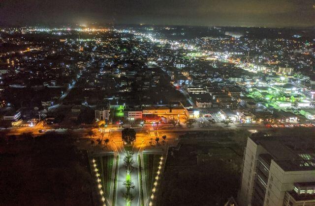 茨城 夜景 茨城県庁展望フロア