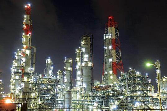 茨城県神栖市 工場夜景 鹿島臨海工業地帯