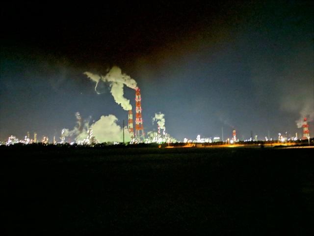 関東 茨城 工場夜景 鹿島臨海工業地帯