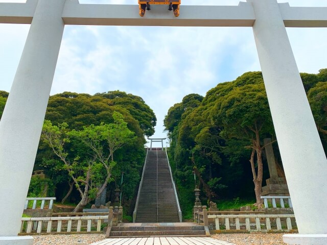 大洗磯前神社 二の鳥居から階段へ