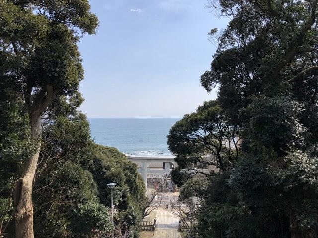 大洗神磯神社 境内からの海