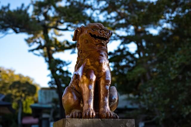 大洗磯前神社の狛犬