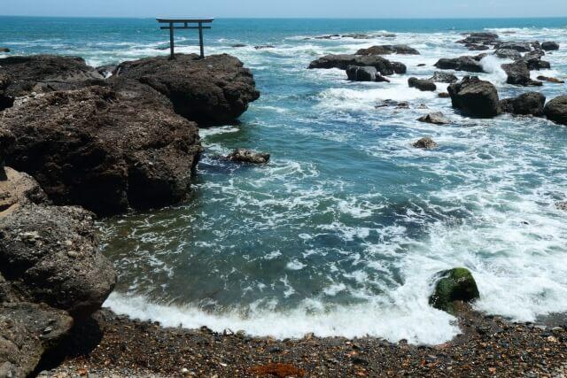 国営ひたち海浜公園 周辺 大洗磯前神社 神磯の鳥居