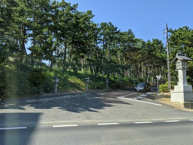 大洗磯前神社 大洗海洋博物館側の駐車場