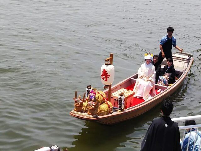 水郷潮来あやめまつり 嫁入り舟 伝統