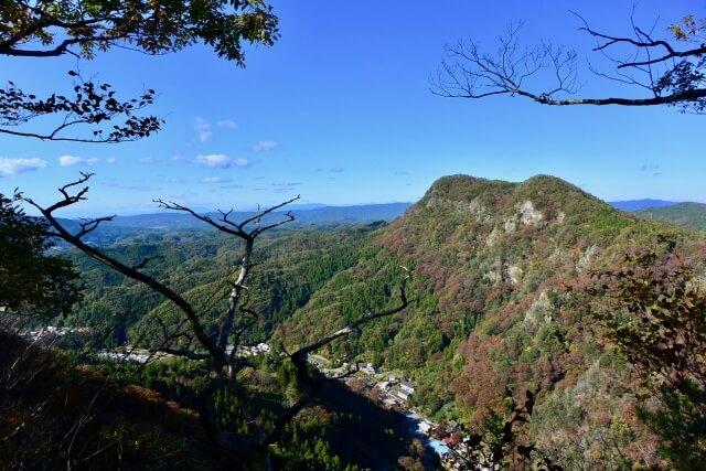 袋田の滝 周辺 観光スポット 月居山 眺望