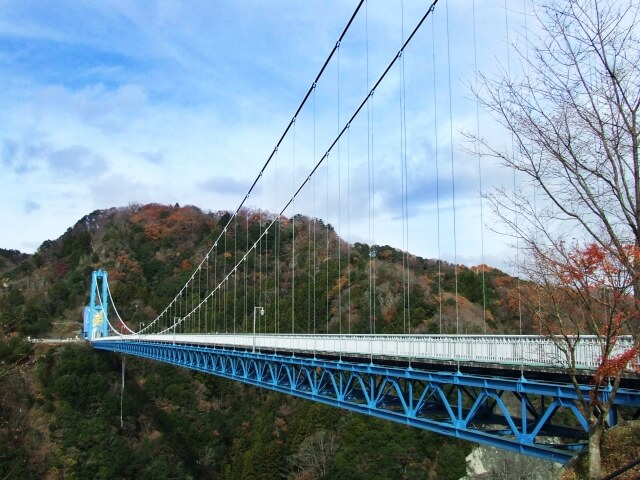 茨城県 北部 常陸太田市 観光 竜神大吊橋