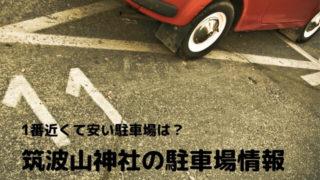 筑波山神社 駐車場 混雑