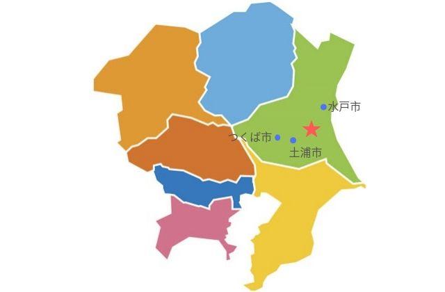 茨城空港の位置マップ