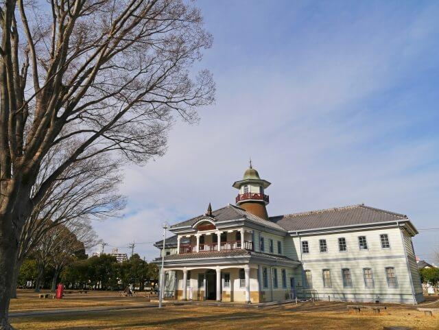 水戸 旧水海道小学校 プロジェクションマッピング 紅葉