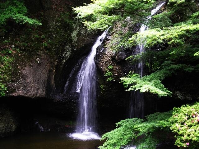 月待の滝 春 新緑