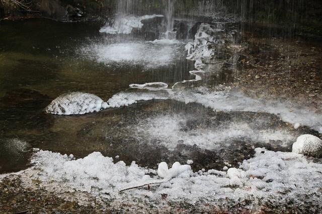 月待の滝 冬 氷縛 もみじ苑