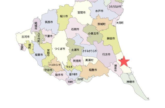 茨城県 鹿嶋市 場所 MAP
