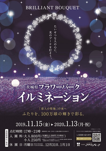 茨城県フラワーパーク イルミネーション 2019 2020