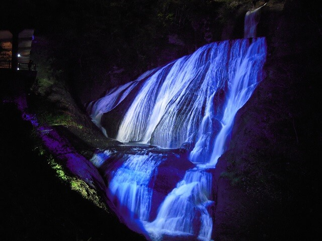 茨城 イルミネーション 袋田の滝