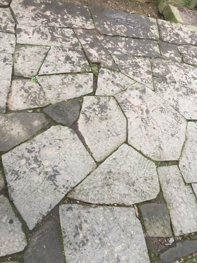 鷲子山上神社 福亀石畳
