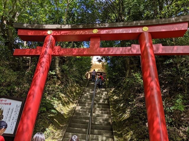 鷲子山上神社 大フクロウ 鳥居
