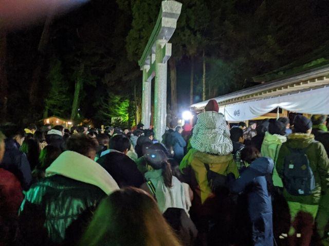 鹿島神宮 初詣 拝殿前 カウントダウン