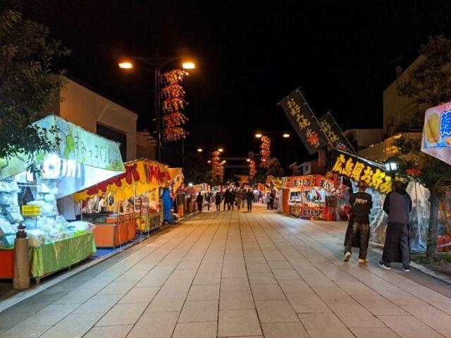 鹿島神宮 初詣 門前通り 屋台 出店