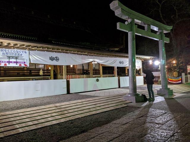 鹿島神宮 初詣 年明け前の拝殿前