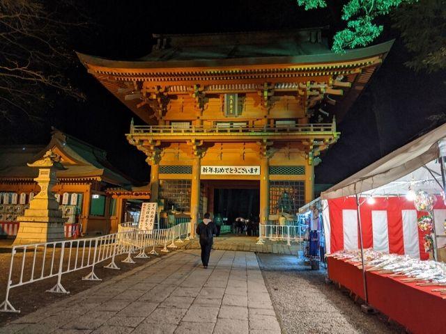 鹿島神宮 初詣 人が集まる前の楼門