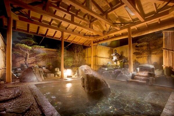 筑波山 温泉 つくばグランドホテル 庭園露天風呂