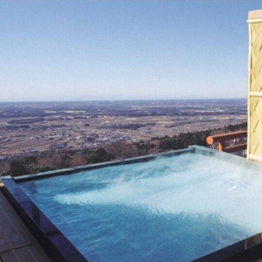 筑波山 温泉 つくばグランドホテル 空中露天風呂
