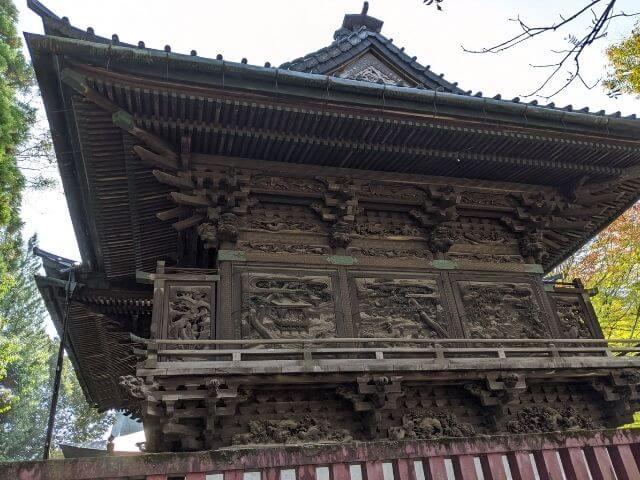 笠間稲荷神社のご本殿 彫刻