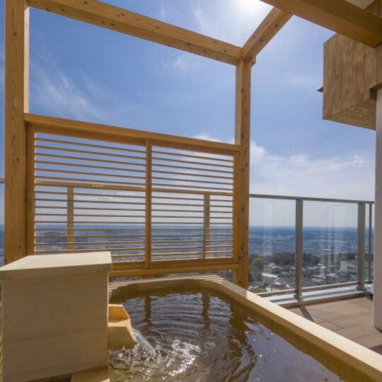 筑波山 温泉 ホテル 青木屋 露天風呂付きの部屋