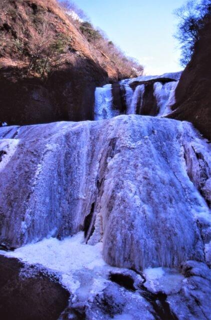 袋田の滝 冬 凍った滝 凍瀑 氷瀑