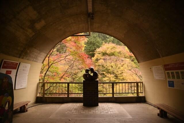 袋田の滝 恋人の聖地 トンネル