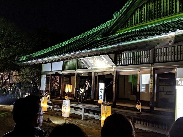 弘道館 梅まつり 正庁 夜