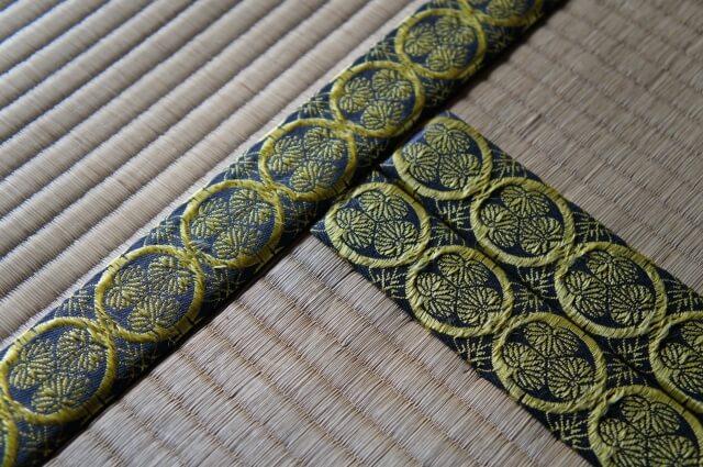 弘道館 正庁正席の間 畳 葵の紋