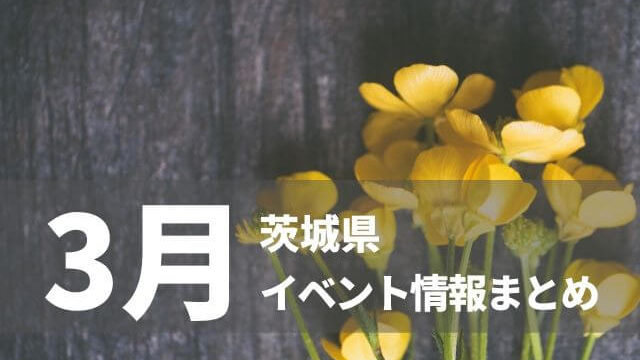 茨城 イベント 3月
