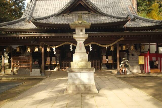 大宝八幡宮 宝くじ 境内 拝殿