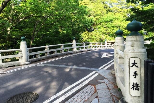 水戸城跡にある大手橋