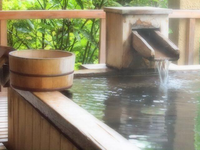 大子広域公園オートキャンプ場グリンヴィラ 温泉 ふれあいの湯 露天風呂