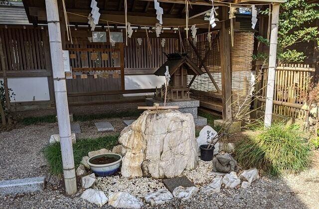 常磐神社 社務所の隣 ご神水
