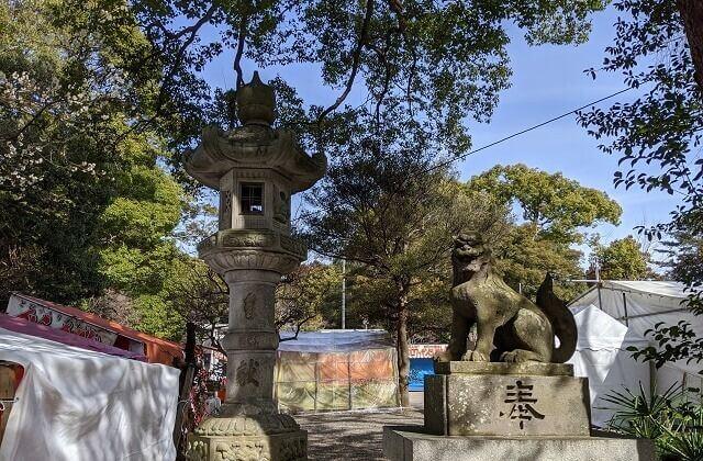 常磐神社 境内 狛犬