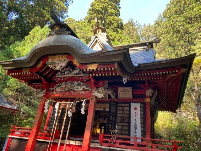 花園神社の拝殿 北茨城市