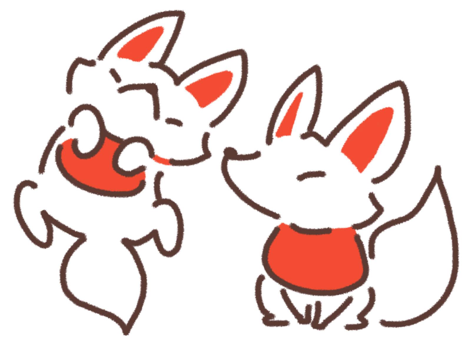 静神社 民話 四匹の狐 伝説