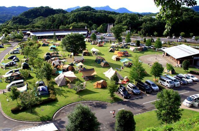 大子広域公園オートキャンプ場グリンヴィラ フリーサイト 全体の様子