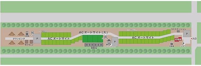 日川浜オートキャンプ場 園内 説明