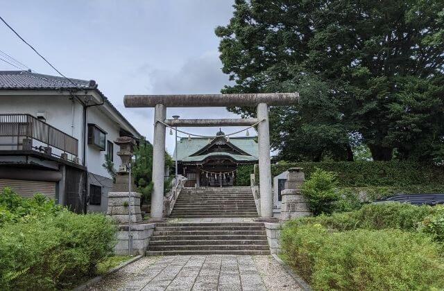 関東三雷神 別雷皇太神 鳥居 階段 水戸市